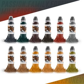 World Famous Ink 12 Color Earthtone Set